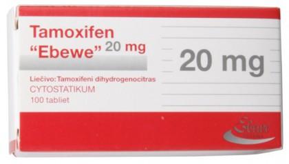 Tamoxifene citrate Ebewe 20 mg (100 com)